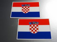 ■クロアチア国旗ステッカー2枚セット即買■