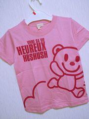 新品!!ハッシュアッシュ☆くまちゃんTシャツ100ピンク