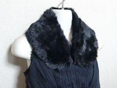 ファーティペット 襟 ブラック 黒 フェイクファー 新品