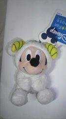 ミッキーマウス 12星座キーチェーン マスコット ひつじ 着ぐるみ 非売品 新品