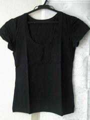 新品未使用★【DHC】コットンストレッチTシャツ サイズL/ブラック