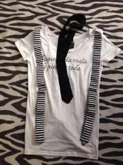 セシル★未使用!サスペ・ネクタイ付半袖Tシャツ