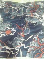 ☆新柄濃紺×大龍玉柄ダボシャツ2L