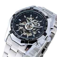 新品★本格自動巻き腕時計★スケルトンビッグフェイス
