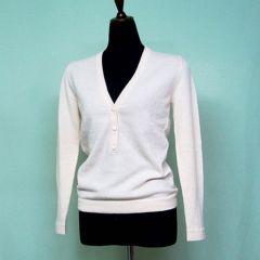【税・送料込み】カシミア婦人用セーター M寸イタリア製ベージュ