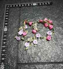 キュートリボン 薔薇 手芸 裁縫 手作り クラフト 20個入り