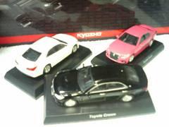 京商  トヨタ2 210系  クラウンアスリート  黒 白   ピンク