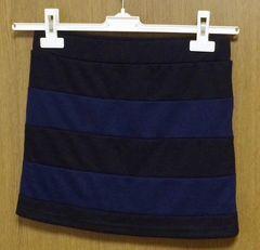 グラマラスガーデン*ミニスカート 黒×ネイビー Fサイズ