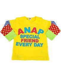 ♪新品 ANAPキッズ カラフルロゴ袖柄トレーナー 100�p♪