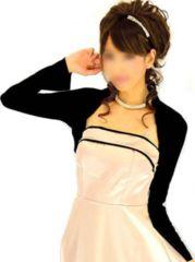 新品【6724】黒★ショート丈フレアー袖のボレロ(フォーマルにも