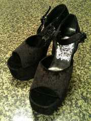新品◆厚底靴◆ゴシック系ロリータ系◆22cm◆