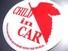 ev_CHILD in CARステッカーNERV風エヴァ・白