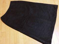 ナイスクラップ/NICE CLAUスエード膝丈フレアスカート