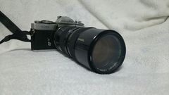 フィルムカメラ  MINOLTA  XD  タムロン望遠レンズ付き!