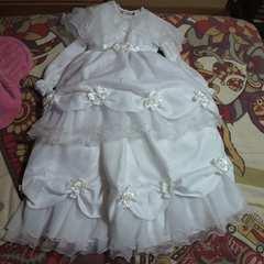 キッズ白3Way ドレス 7歳用 七五三・お祝い等に