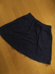新品タグ付き/Mサイズ/スカート/ネイビー/ユニクロ
