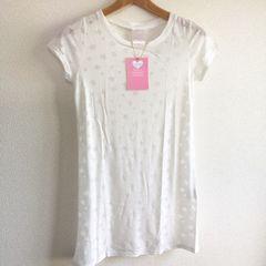◆Ravijour/ラヴィジュール◆新品!!透かし星柄Tシャツ★ホワイトF