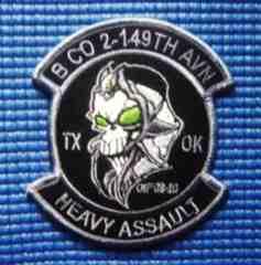 B Co 2-149th GSAB Avn Regt OIF パッチ/HEAVY ASSAULT CH-47