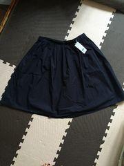 21 新タグ ふんわりタックギャザースカート 大きいサイズ 4L ネイビー