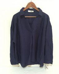 新品 大きいサイズネイビーシャツ.ブラウス☆4L