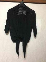 CHUXXX★前結びシャツ★バックレース★ブラック★黒