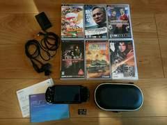 中古PSP-2000メモリースティックプロデュオ4GBソフト6本ケース付