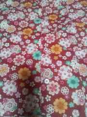 ☆新品=赤×桜柄=ダボシャツ100