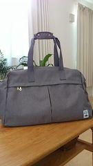 新品タグつき*杢調トラベルボストンバッグ スーツケース固定可 ユニセックス