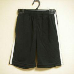 メッシュパンツ ズボン 100cm ブラック×白ライン