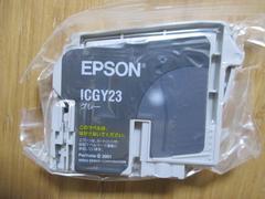 インジェクトプリンターインク EPSON ICGY23(グレー) 新品!�@