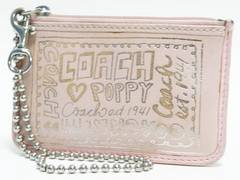 COACH コーチ カードケース付コインケース レザー ピンク