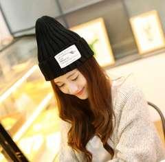 レディース ニット帽子 キャップ サイズフリー ブラック