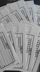 郵便局、普通郵便 定形外郵便 ゆうメール 宛名書き用紙10枚