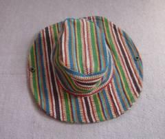 カラフル ひだ8cm 紫外線予防 帽子 キャップ ハット
