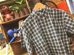 USA製ラルフローレン半袖チェック柄シャツ緑×白×赤h16268