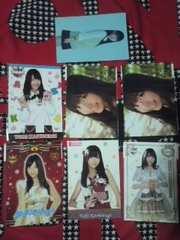 送込柏木由紀AKB48ショップ公式ポストカード7枚セット
