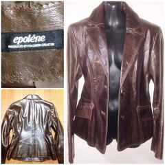 epolene高級皮革レザージャケット細身シンプル上品 冬春アウター