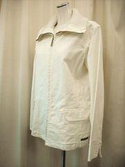 【レノマ】オフホワイトのジップアップジャケットコート