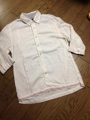 美品CIAO PANIC 7分丈刺繍入りシャツ チャオパニック