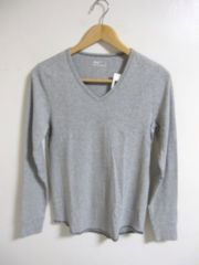□GAP/ギャップ 深Vネック 長袖 Tシャツ・細身/メンズ・XS ☆新品