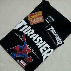 セール 新品XLサイズ スラッシャー×スパイダーマンTシャツ