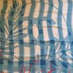 CHANEL scarf 100%Silk シルク イタリア製 大判スカーフ 新品