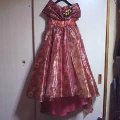 キッズ花柄ゴージャス ロングドレス 7歳用 七五三・お祝い等に