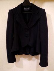美品◆ARMANIアルマーニ フレアデザインジャケット 黒36◆コート
