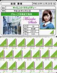 志田愛佳 サイレントマジョリティー 免許証カード 欅坂46