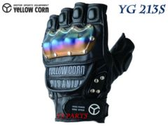 【正規品】新品イエローコーンYG-213Sチタンナックルグローブ ブラックL