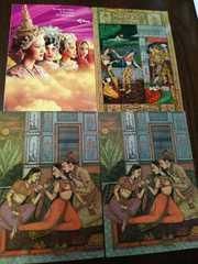 インド大判ポストカード3枚+オマケで非売品タイ航空のポスカ