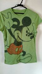 グリーンミッキーTシャツL
