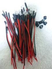12V配線抵抗付LED30本ピンク6000mcd