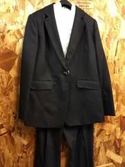 新品☆21号トールサイズ(3L)!エレガントパンツスーツ黒系☆j223